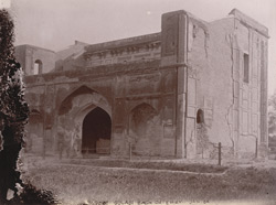 Interior view of the Gulabi Bagh Gateway, Lahore.